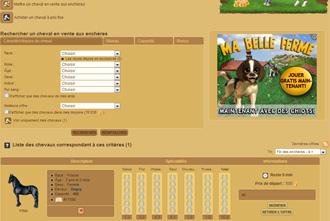 Horzer - Comprar un caballo en una subasta y otras interacciones